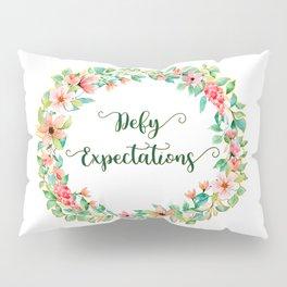 Defy Expectations - A Floral Print Pillow Sham