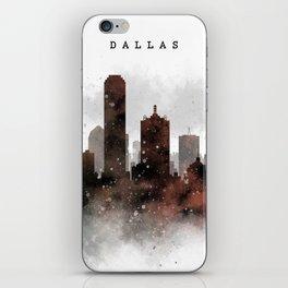 Dallas City Skyline iPhone Skin