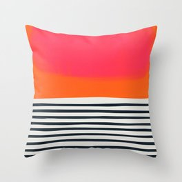 Sunset Ripples Throw Pillow
