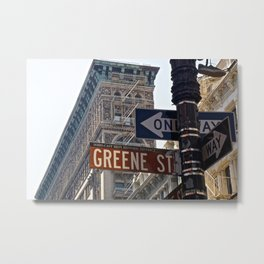 Streets of SoHo NYC Metal Print
