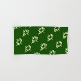 Canalflowers on green pattern Hand & Bath Towel