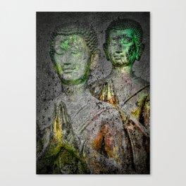 Prayers greenyellow Canvas Print