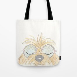 Woof You Groovy Dog Tote Bag