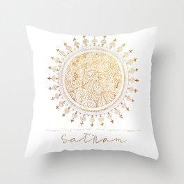 Justyoga Mandala SatNam Throw Pillow