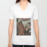 karen hallion V-neck T-shirts featuring Karen by Mariano Peccinetti