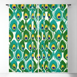 Abstract Peacock Pattern Blackout Curtain