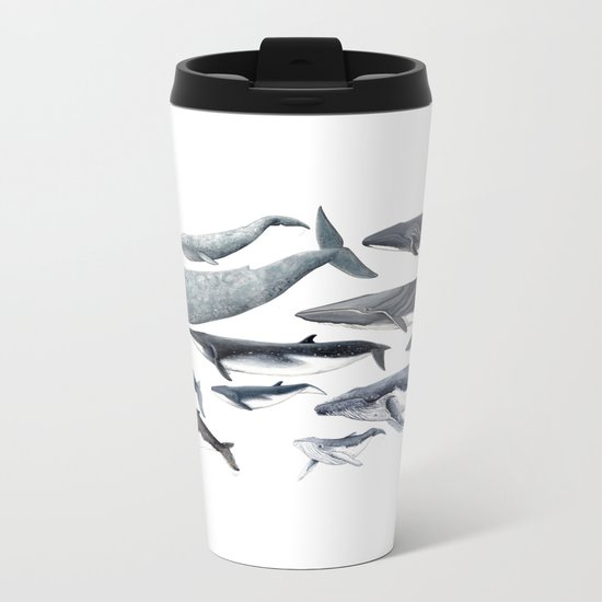 Whale diversity Metal Travel Mug