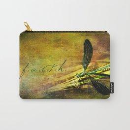 Ebony Jewel Wing Damselfly Faith Carry-All Pouch