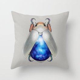Labradorite Beetle Throw Pillow