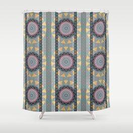 Boho Multi Mandala Goth Lace Elegant Thread Texture Print Shower Curtain