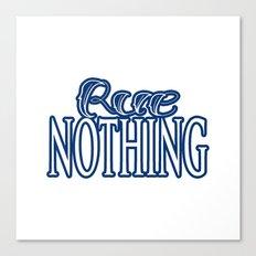 Rue Nothing Blue Logo Canvas Print