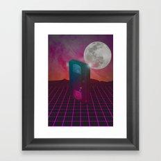 Back to the 80s Framed Art Print