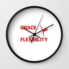 Strength Grace Balance Flexibility Gymnastics T-Shirt Wall Clock