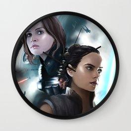 Jyn & Rey Wall Clock