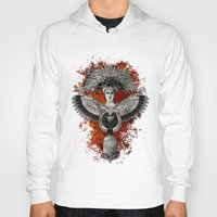 phoenix Hoodies featuring Phoenix by Diogo Verissimo