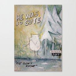 He was so cute Canvas Print