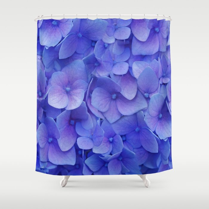 Hydrangea blue Shower Curtain