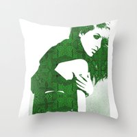 henna Throw Pillows featuring Aztec Henna by fashionistheonlycure