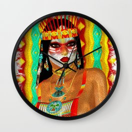 Cultured Colors - Native American Beauty Wall Clock