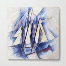 Sail In Two Movements After Charles Demuth Metal Print