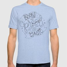 Books are Magic Mens Fitted Tee 2X-LARGE Tri-Blue