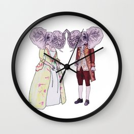 Madame and Monsieur Elephant Wall Clock