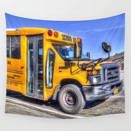 American School Bus Wall Tapestry