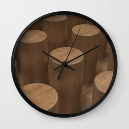 Wood with cylinders Wall Clock