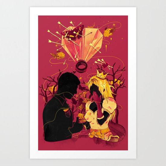 2 Hearts 2 Love Art Print