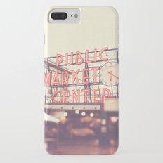 6:20. Seattle Pike Place Public Market photograph Slim Case iPhone 7 Plus