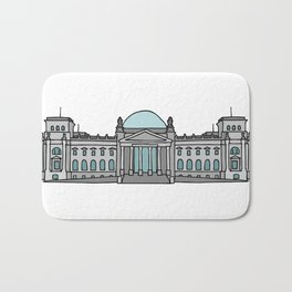 Reichstag building in Berlin Bath Mat