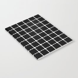 Dotted Grid Black Large Notebook