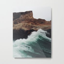 Montaña Wave Metal Print