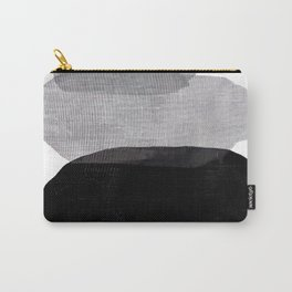 Abstract Black and White Pebbles Carry-All Pouch