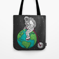 Ride the world Tote Bag