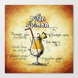 Cocktail Pina Colada Canvas Print