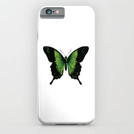 Green Butterfly | Vintage Butterfly | Green and Black | iPhone Case