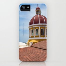 Looking towards Lake Nicaragua from Granada Cathedral iPhone Case