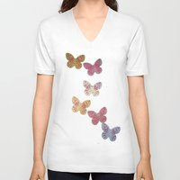 butterflies V-neck T-shirts featuring Butterflies  by Sammycrafts