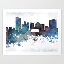 Toledo Bluish Skyline Art Print