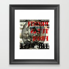 shadow death heroes GRANT Framed Art Print