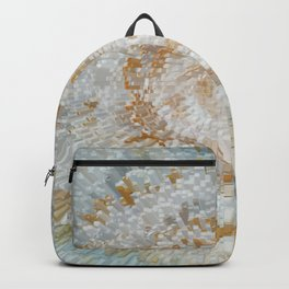Abstract gold roses Backpack