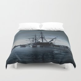 Ship The Warrior HMS 1860 Duvet Cover