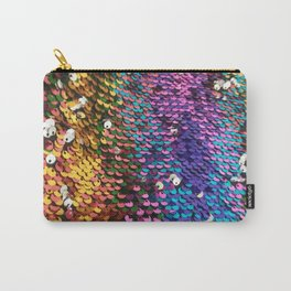 Multicolored Sequins Carry-All Pouch