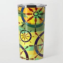 Ship wheels III Travel Mug