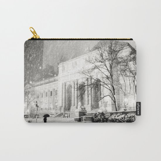 New York City Snow - 5th Avenue Carry-All Pouch