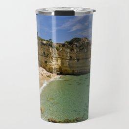 Small cove on the Algarve, Portugal Travel Mug