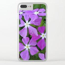 Periwinkle Vinca PO Clear iPhone Case