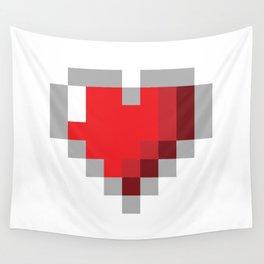 8bit Heart Wall Tapestry