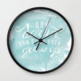LYRICS - Don't you ever - color Wall Clock